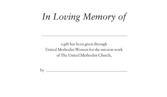 gift in memory cards wncc united methodist women